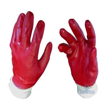 Перчатки-из-ПВХ-красные-с-резинкой (1)