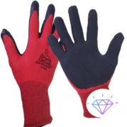 Перчатки вязанные с ПВХ точкой х