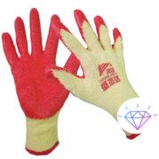 Перчатки вязанные с ПВХ точкой хампро