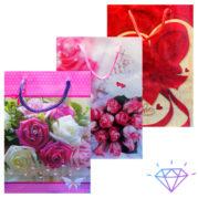 Пакет подарочный цветочки размер (28х34)
