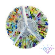 Веер пластиковый бабочки 23 см фото 1