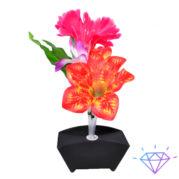 Ночник Карета цветы красно-сиреневые на батарейках, фото 1