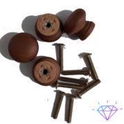 ручки для шкафа и мебель коричневый круглый