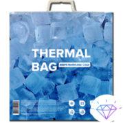 термопакет для упаковки продуктов. Пакет сохраняет терморежим тепло и холод 2 в 1 для продуктов. Купить Термопакет 5 кг оптом в магазине latifzai на 7 километре в Одессе.