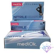 Перчатки нитриловые, Фиолетовые, L (100шт), Mediok Nitrile