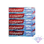 Зубная паста Colgate Max Fresh Взрыная мята с охлаждающими кристаллами, 100ml. Зубная паста Colgate Взрывная мята с охлаждающими кристаллами. Паста содержит натуральные компоненты. Укрепляет зубы и защищает их от кариеса и налета. Паста Колгейт Макс Фреш с охлаждающими кристаллами подходит для ежедневного применения. Экономная упаковка для всей семьи. Имеет приятный аромат ментола. Зубная паста заботится о красоте и здоровье Ваших зубов и десен! Объем тюбика 100мл Упаковка 12шт. Ящик 144шт.