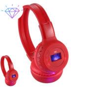 Беспроводные наушники N-65BT ЖК дисплей MP3 плеер FM радио - Красные