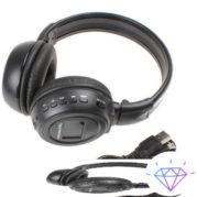 Беспроводные наушники N-65BT ЖК дисплей MP3 плеер FM радио - Черные