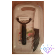 набор керамический нож, овощерезка и доска керамическая 3 в 1